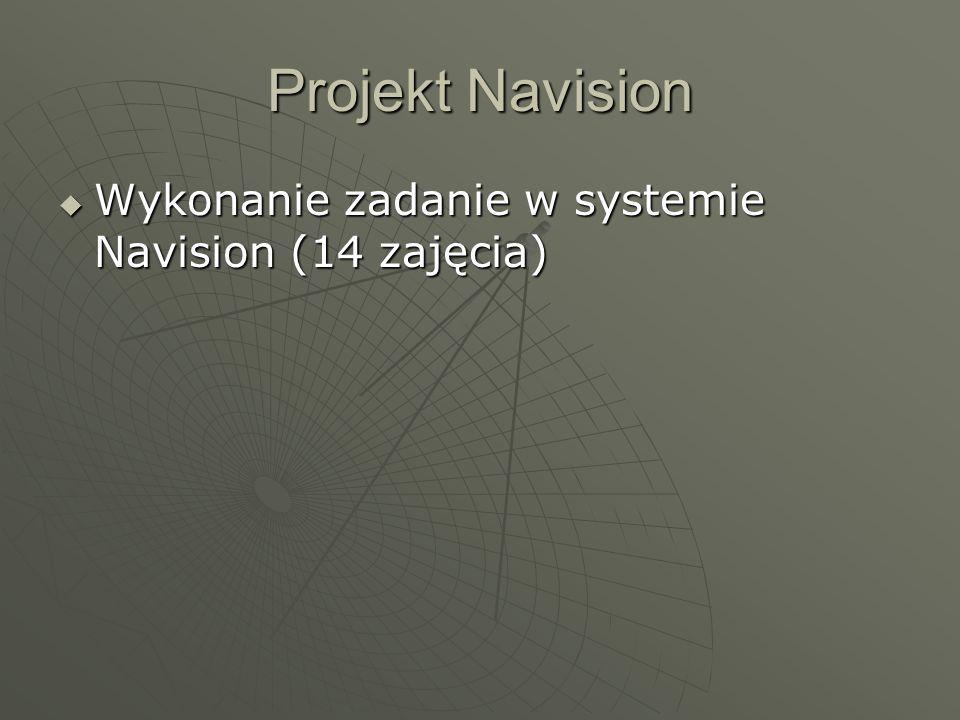 Projekt Navision Wykonanie zadanie w systemie Navision (14 zajęcia)