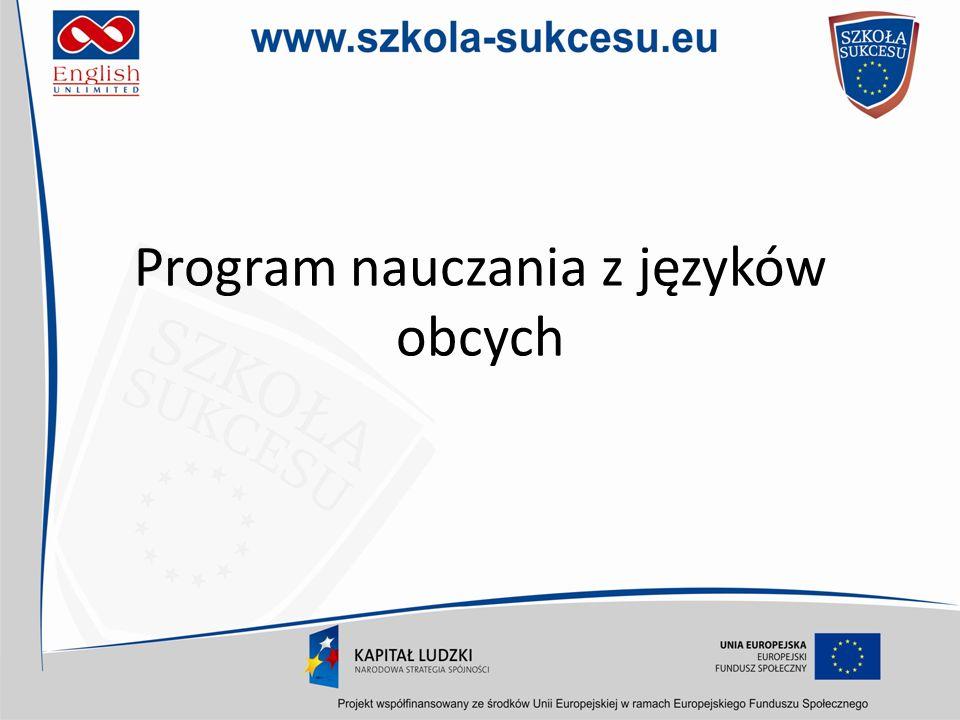 Program nauczania z języków obcych