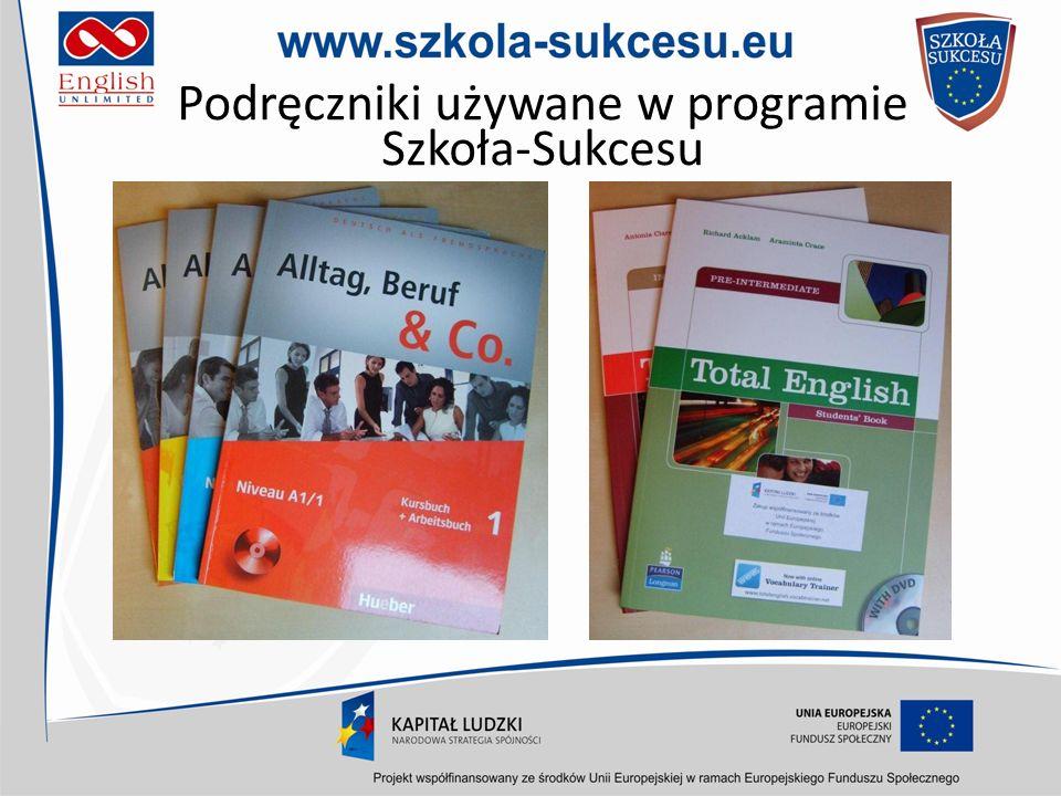 Podręczniki używane w programie Szkoła-Sukcesu