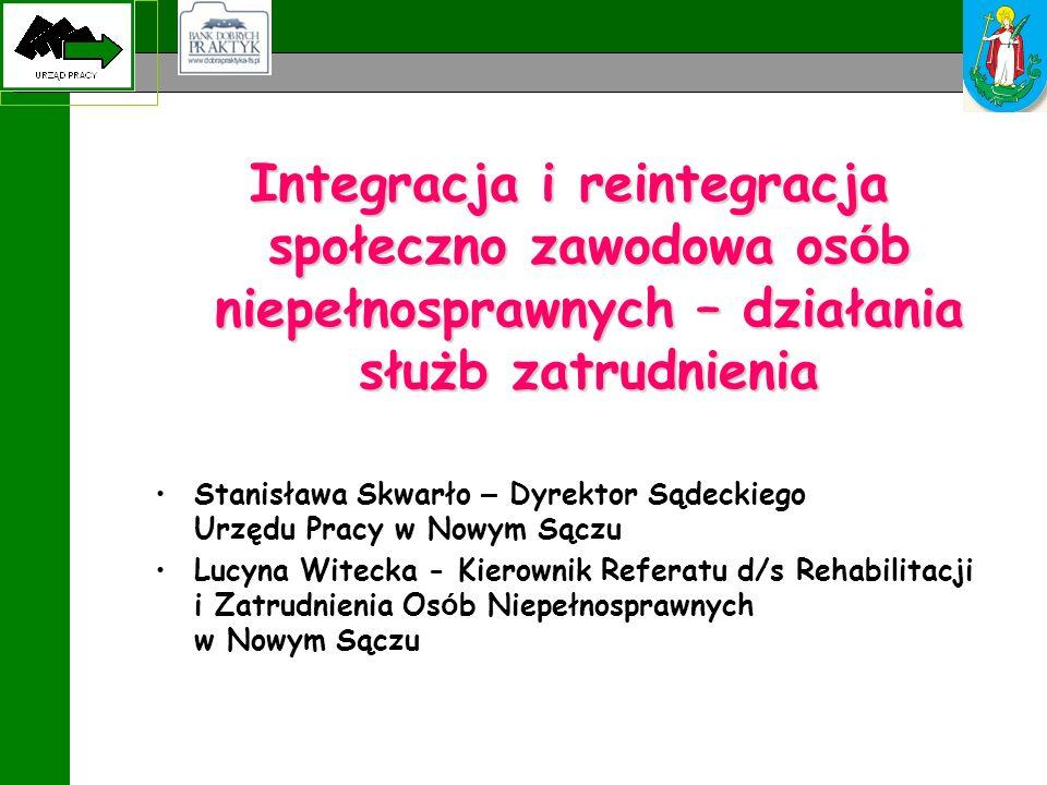 Integracja i reintegracja społeczno zawodowa osób niepełnosprawnych – działania służb zatrudnienia