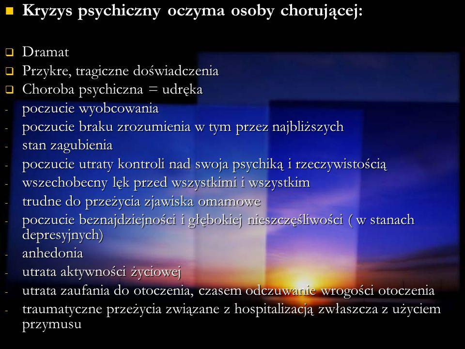 Kryzys psychiczny oczyma osoby chorującej: