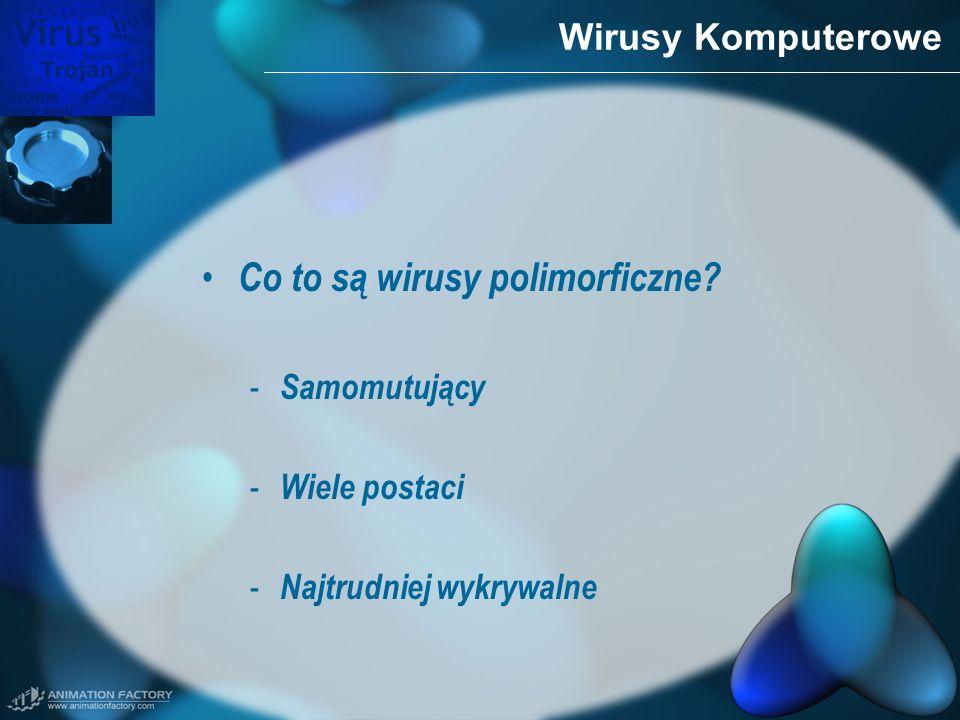 Co to są wirusy polimorficzne