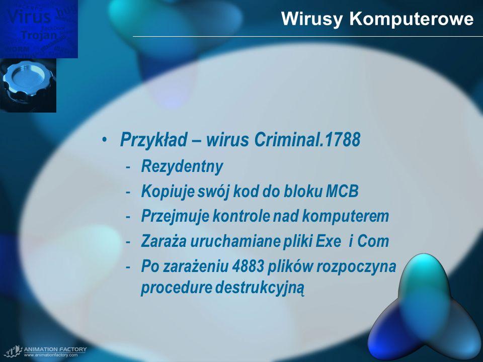 Przykład – wirus Criminal.1788