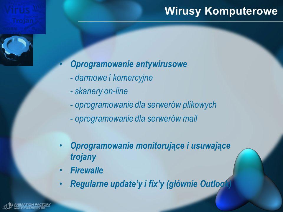 Wirusy Komputerowe Oprogramowanie antywirusowe - darmowe i komercyjne