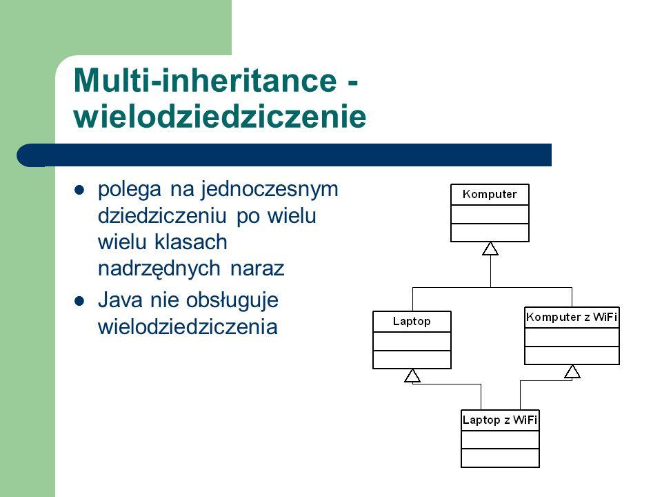 Multi-inheritance - wielodziedziczenie