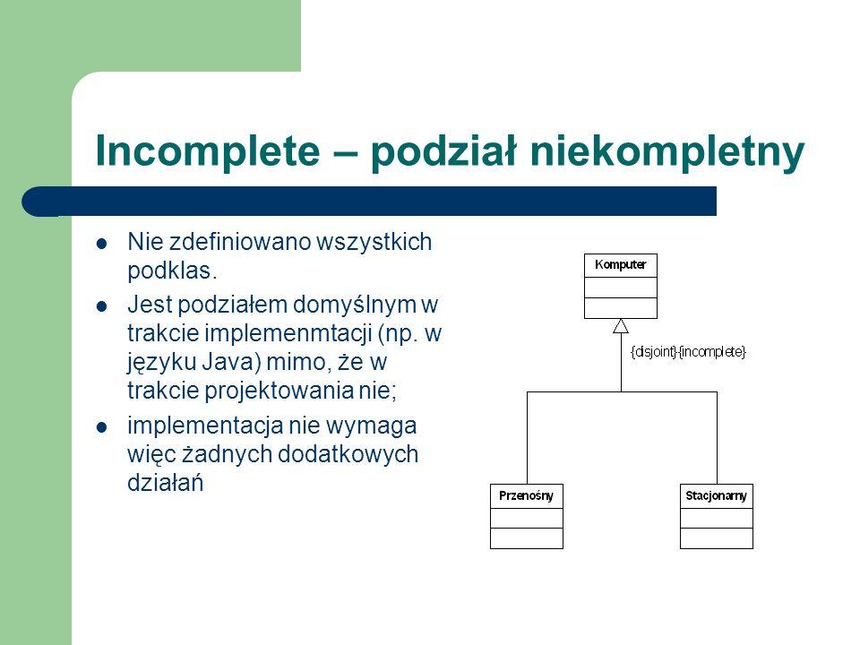 Incomplete – podział niekompletny