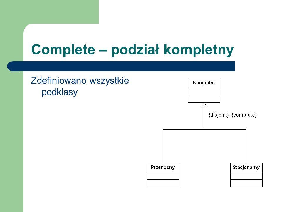 Complete – podział kompletny