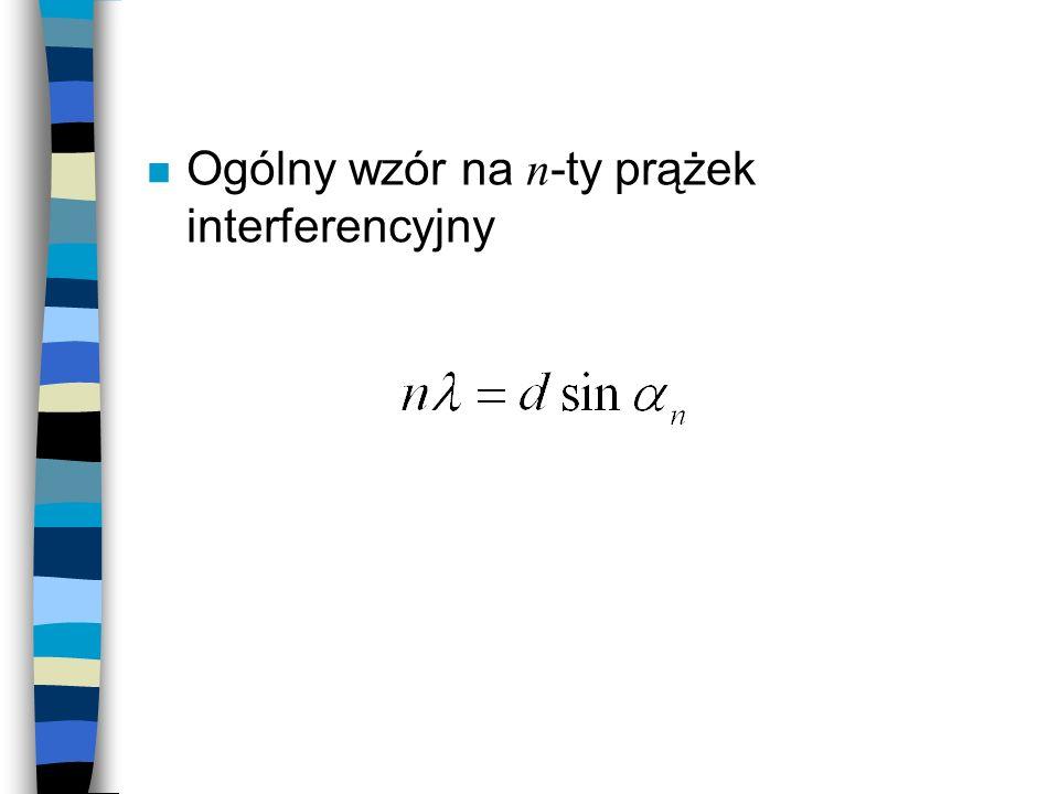 Ogólny wzór na n-ty prążek interferencyjny