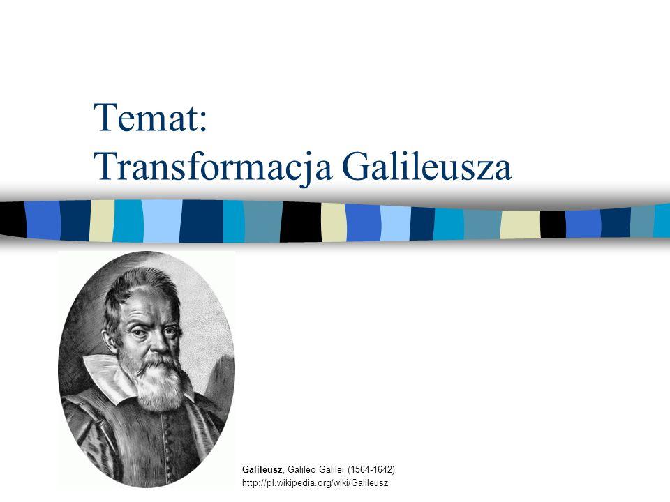Temat: Transformacja Galileusza