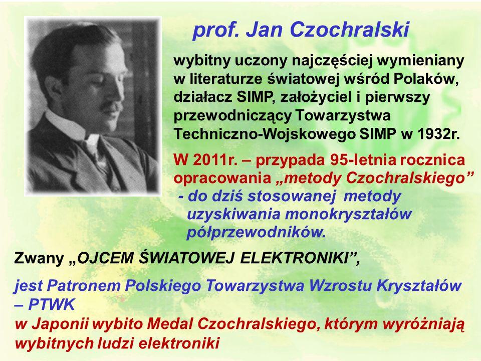 prof. Jan Czochralskiwybitny uczony najczęściej wymieniany w literaturze światowej wśród Polaków,