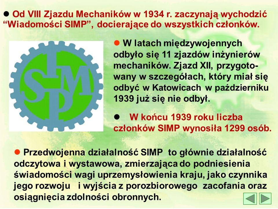 l Od VIII Zjazdu Mechaników w 1934 r