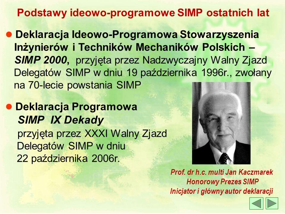 Prof. dr h.c. multi Jan Kaczmarek Inicjator i główny autor deklaracji