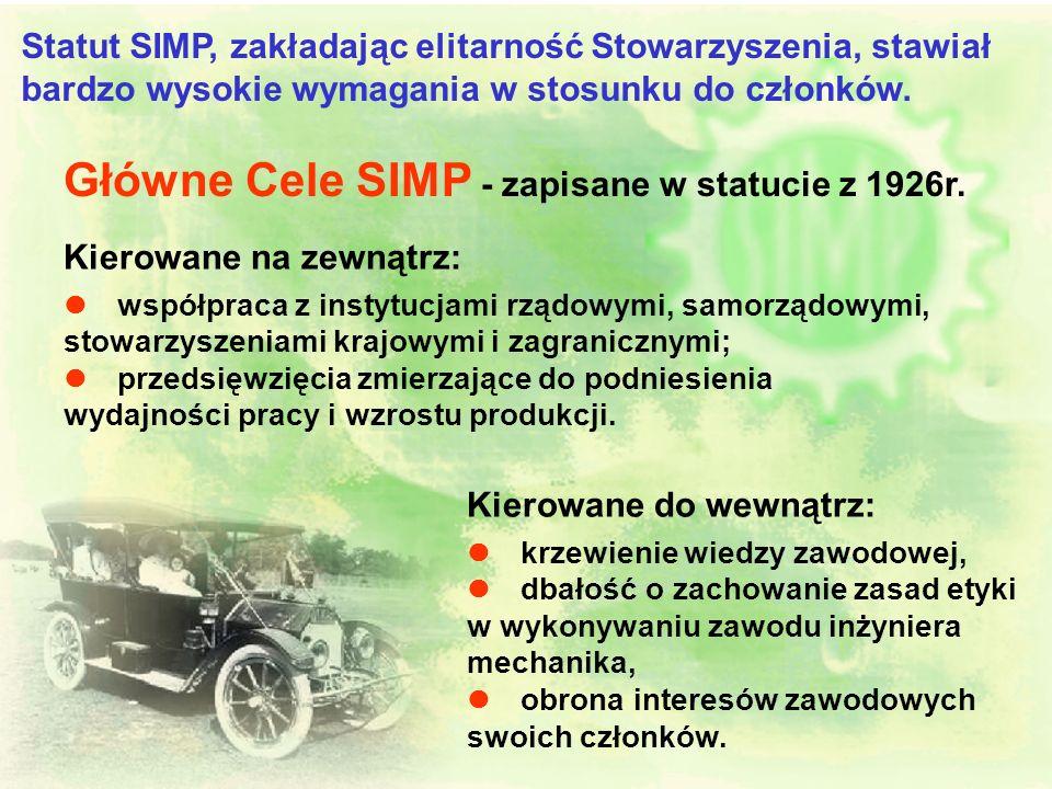 Główne Cele SIMP - zapisane w statucie z 1926r.