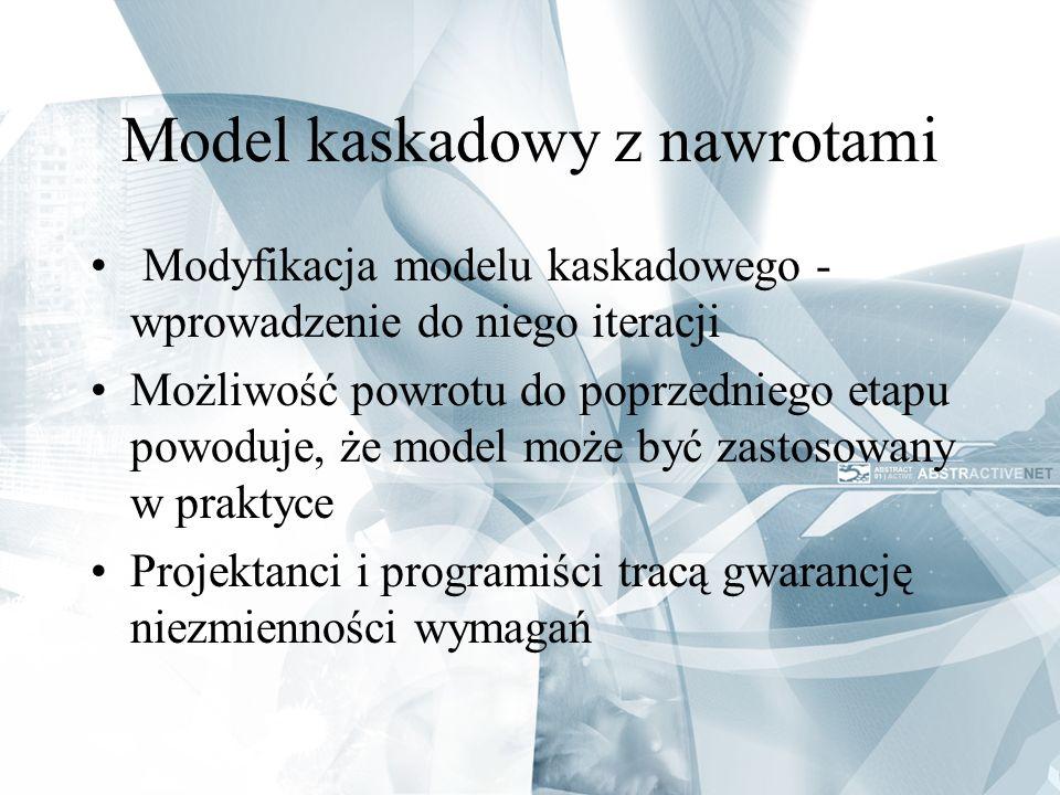 Model kaskadowy z nawrotami