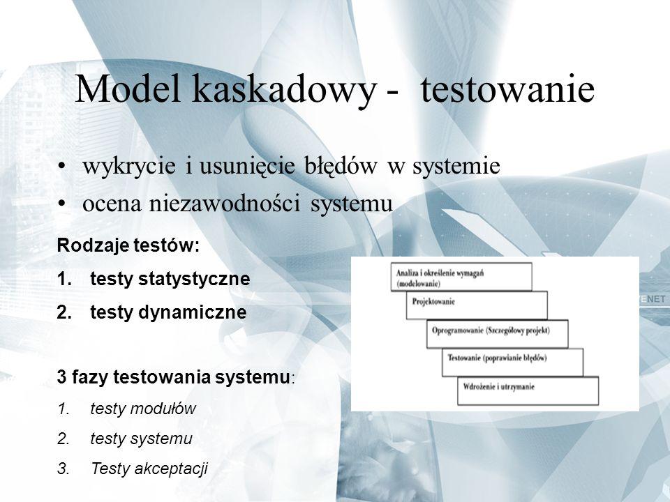 Model kaskadowy - testowanie