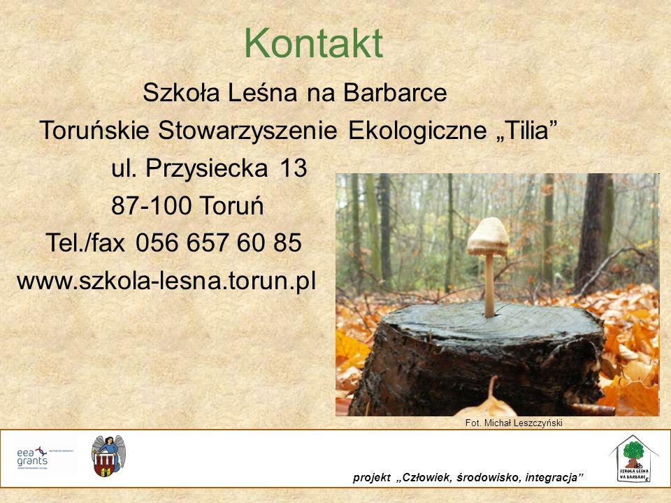 Kontakt Szkoła Leśna na Barbarce