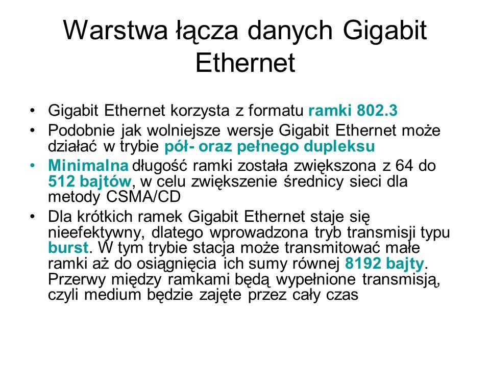 Warstwa łącza danych Gigabit Ethernet