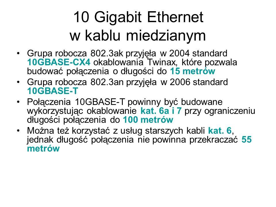10 Gigabit Ethernet w kablu miedzianym
