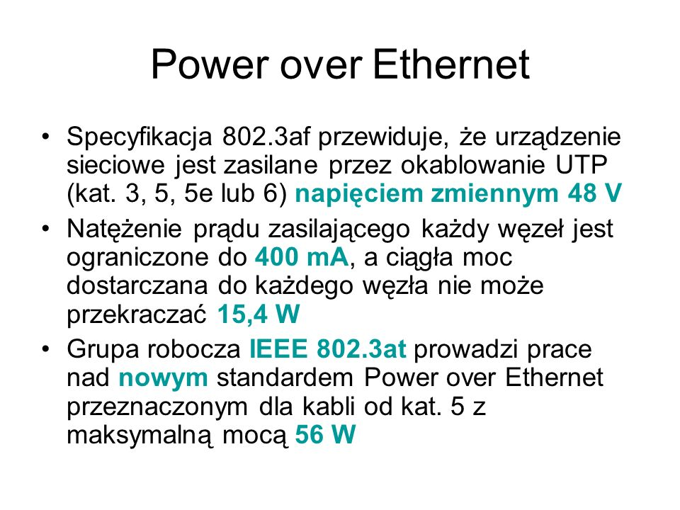 Power over Ethernet