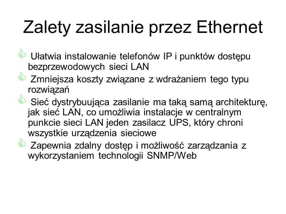 Zalety zasilanie przez Ethernet
