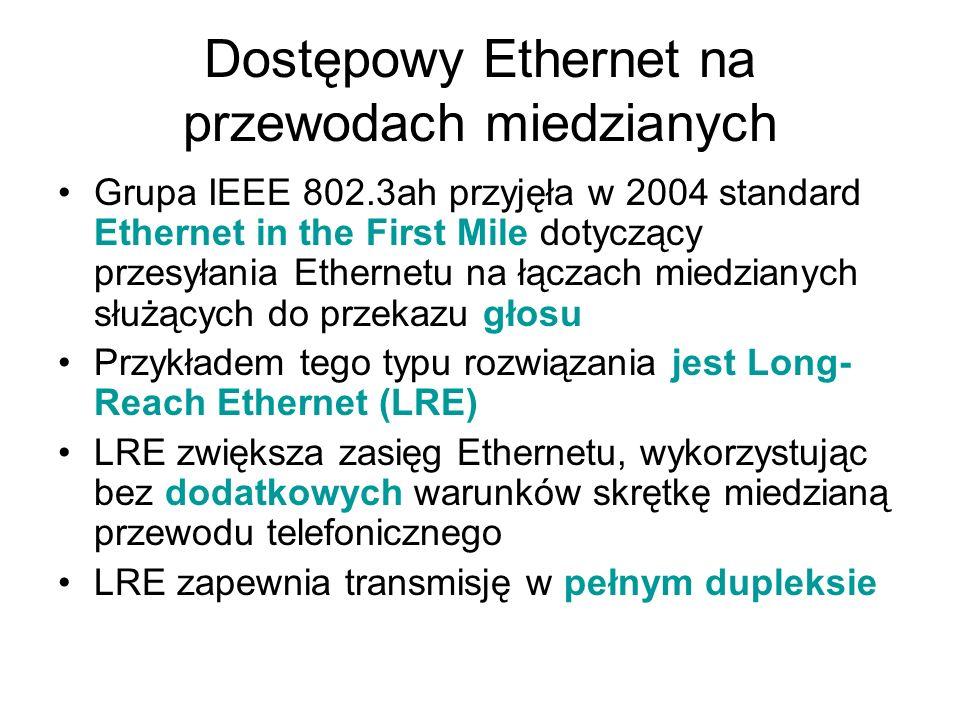 Dostępowy Ethernet na przewodach miedzianych