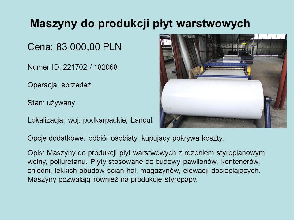 Maszyny do produkcji płyt warstwowych