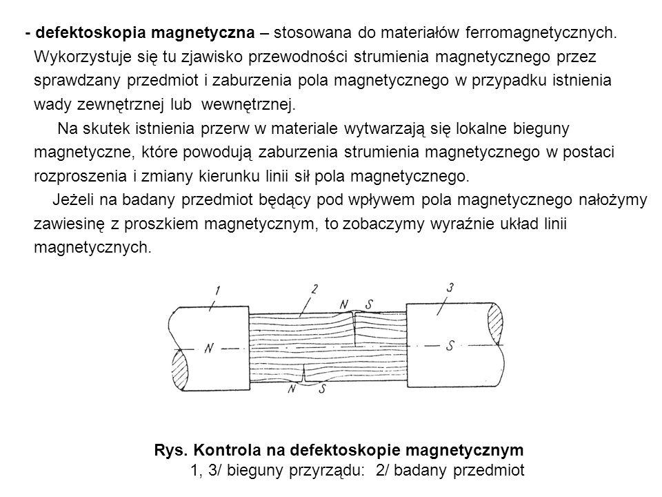Rys. Kontrola na defektoskopie magnetycznym