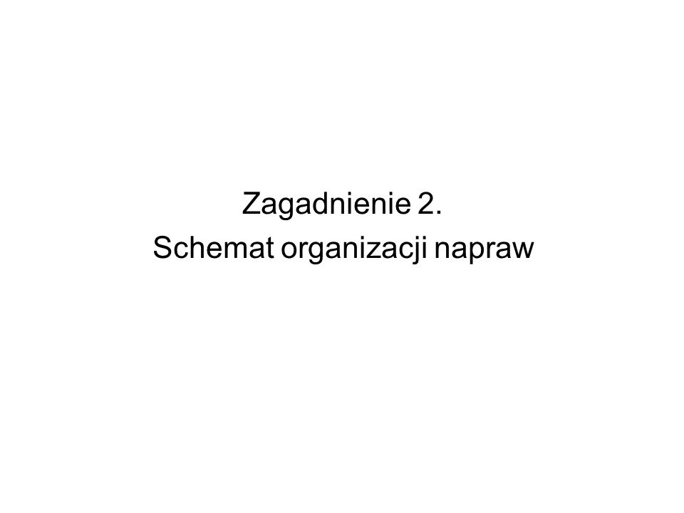 Schemat organizacji napraw