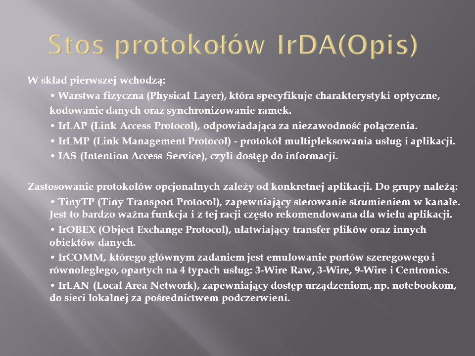 Stos protokołów IrDA(Opis)
