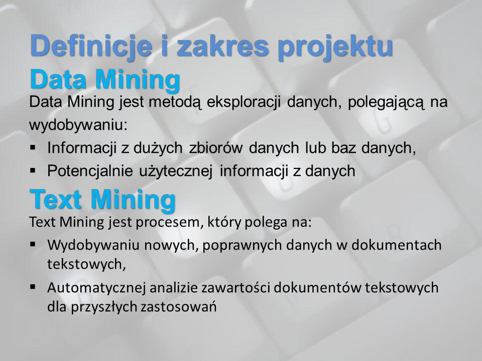 Definicje i zakres projektu Data Mining