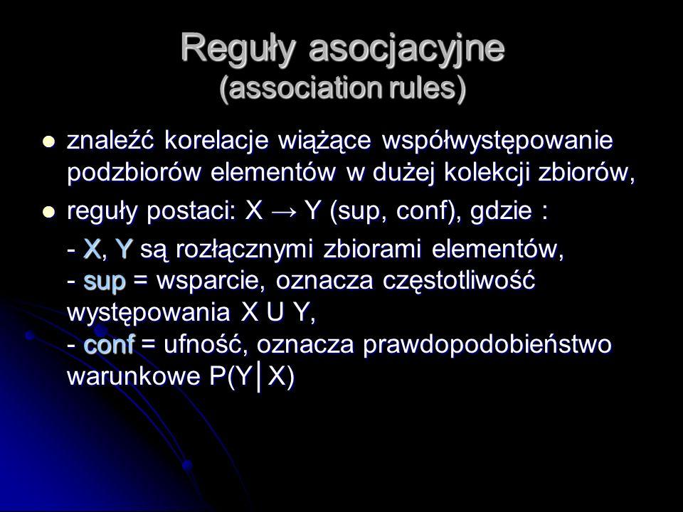 Reguły asocjacyjne (association rules)
