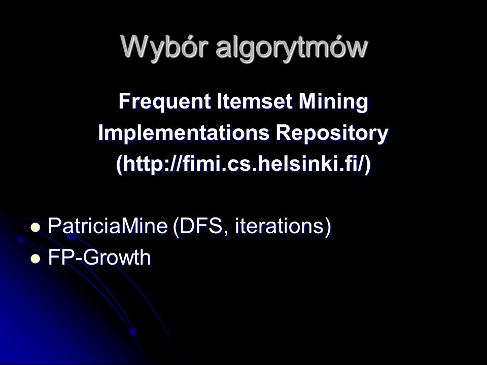 Frequent Itemset Mining Implementations Repository
