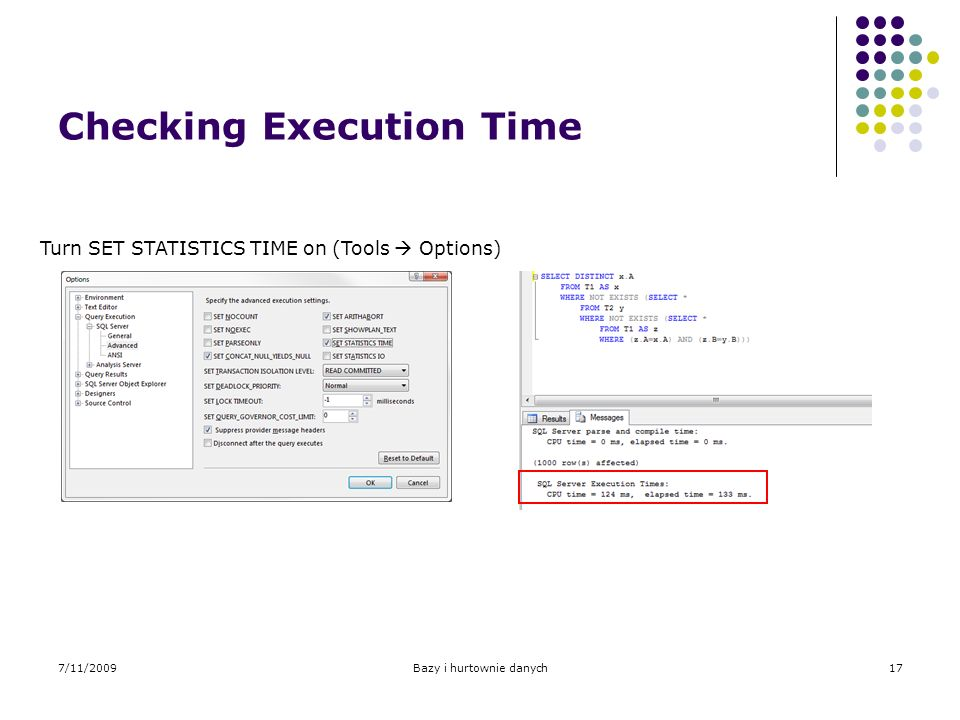 Checking Execution Time