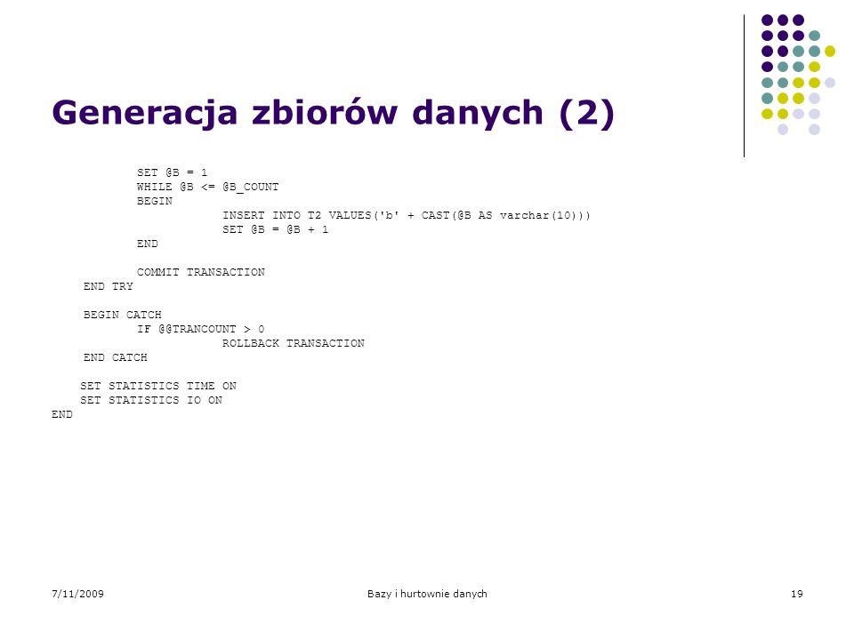 Generacja zbiorów danych (2)