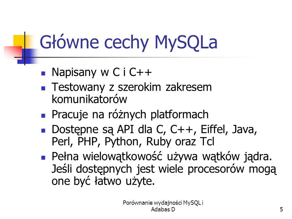 Porównanie wydajności MySQL i Adabas D