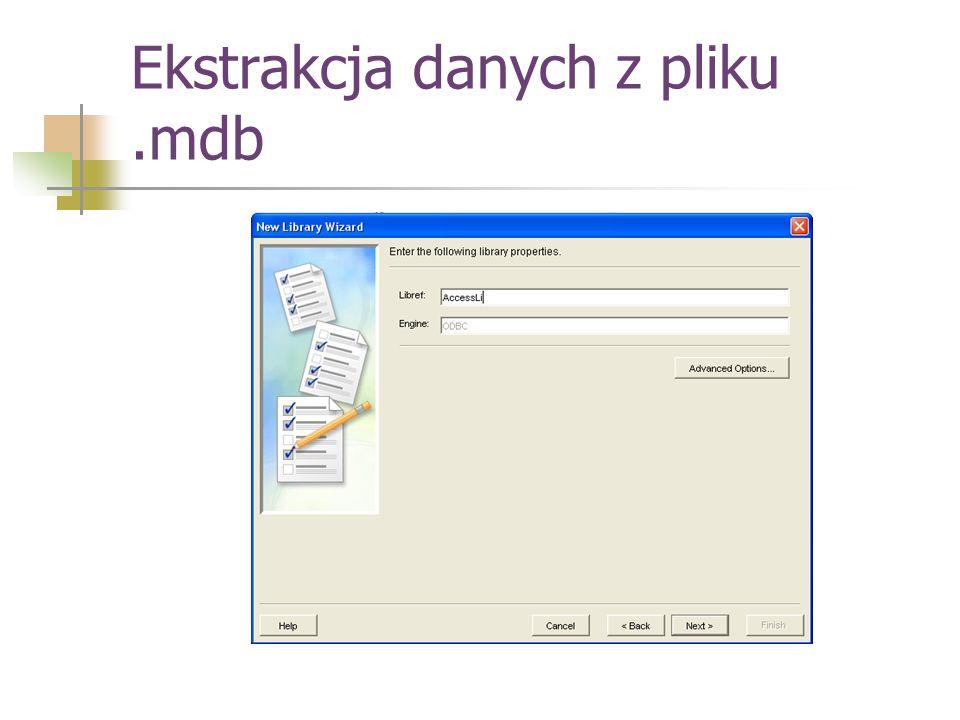 Ekstrakcja danych z pliku .mdb