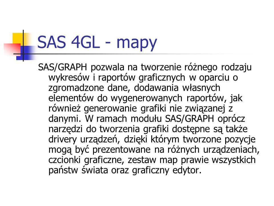 SAS 4GL - mapy