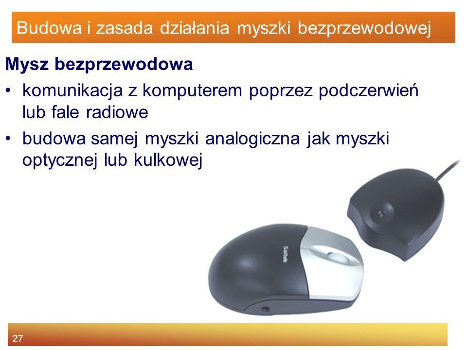 Budowa i zasada działania myszki bezprzewodowej