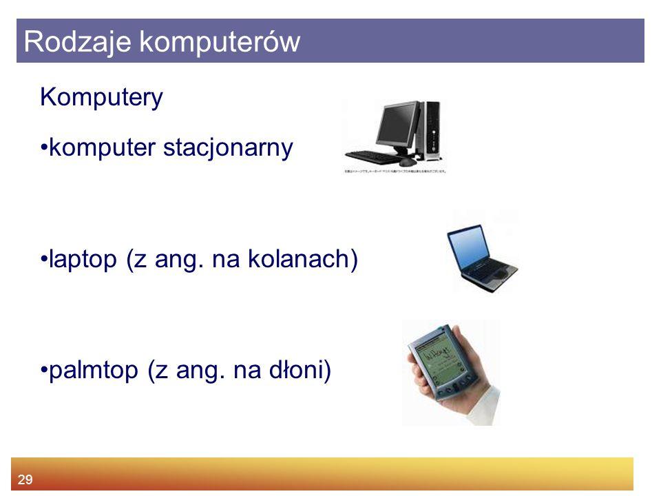 Rodzaje komputerów Komputery komputer stacjonarny