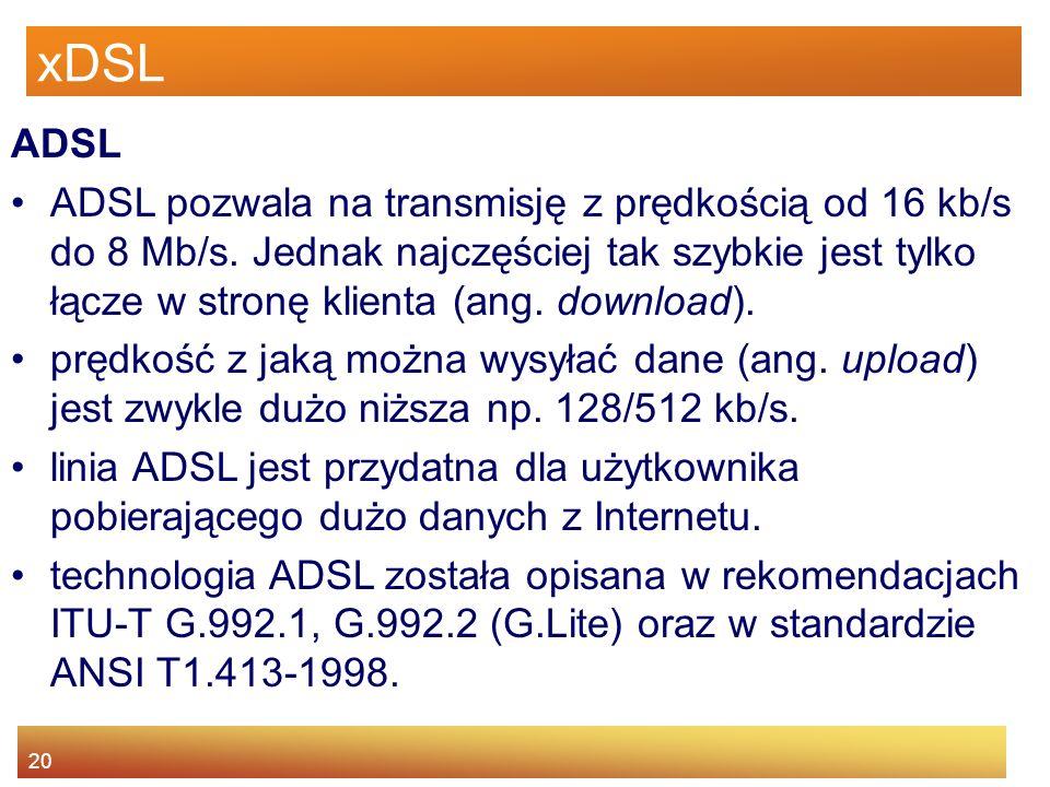 xDSL ADSL.