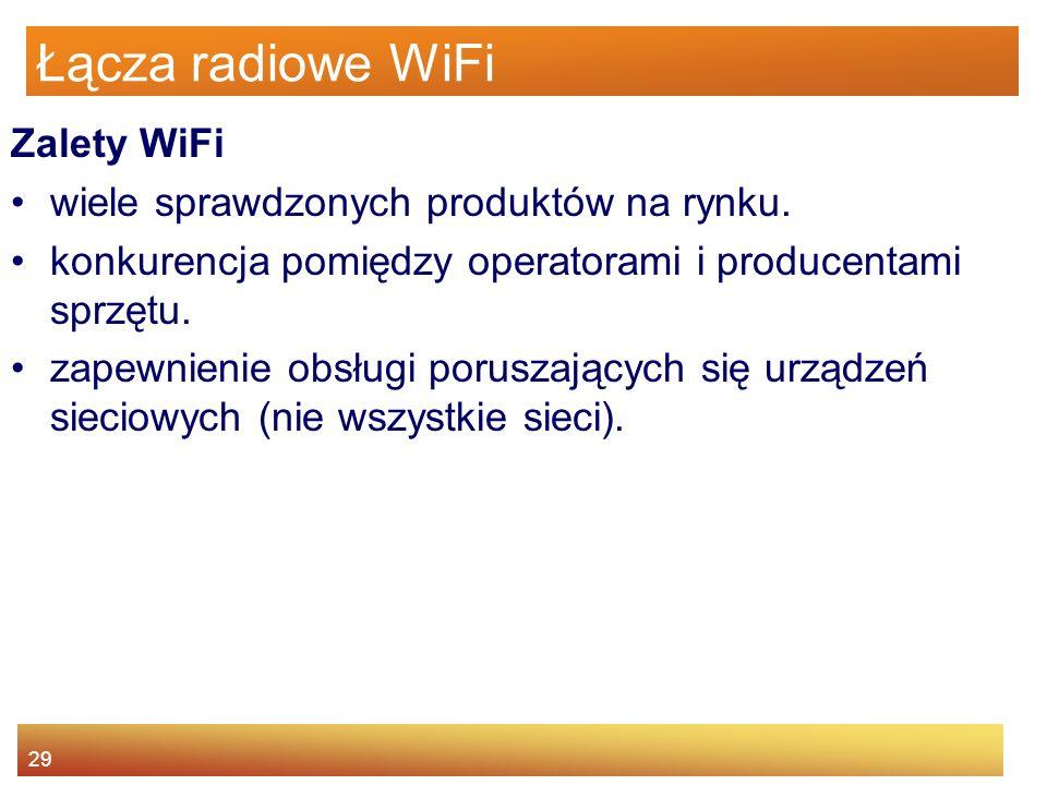 Łącza radiowe WiFi Zalety WiFi wiele sprawdzonych produktów na rynku.