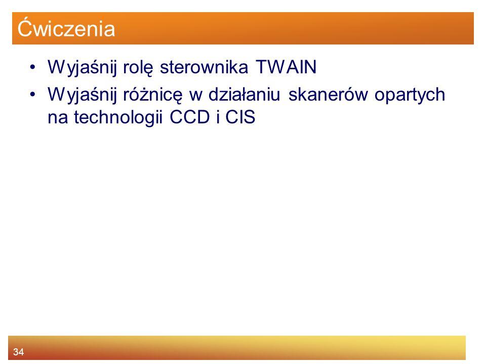 Ćwiczenia Wyjaśnij rolę sterownika TWAIN