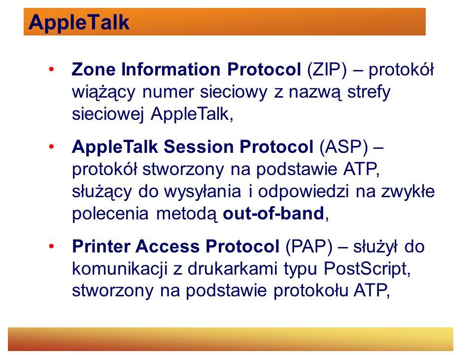 AppleTalk Zone Information Protocol (ZIP) – protokół wiążący numer sieciowy z nazwą strefy sieciowej AppleTalk,