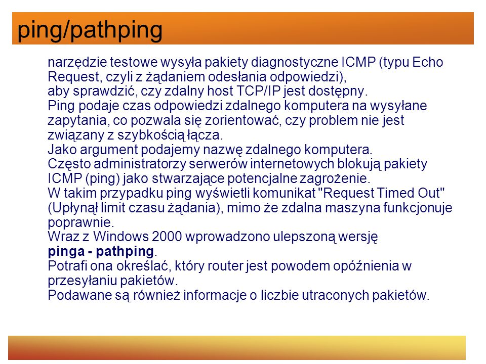 ping/pathping