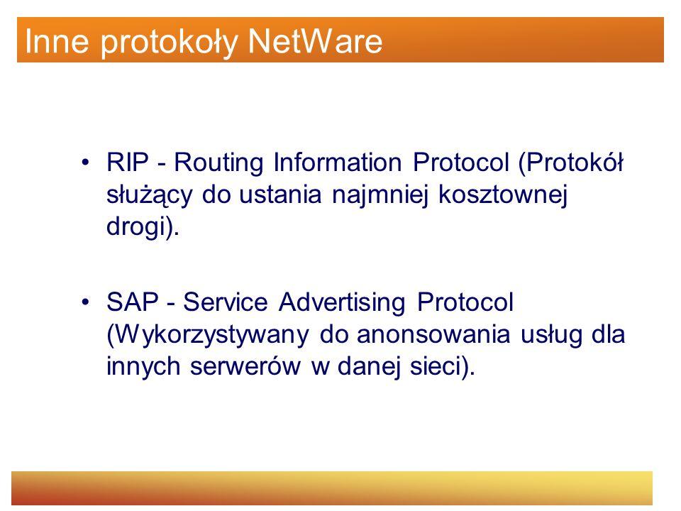 Inne protokoły NetWare