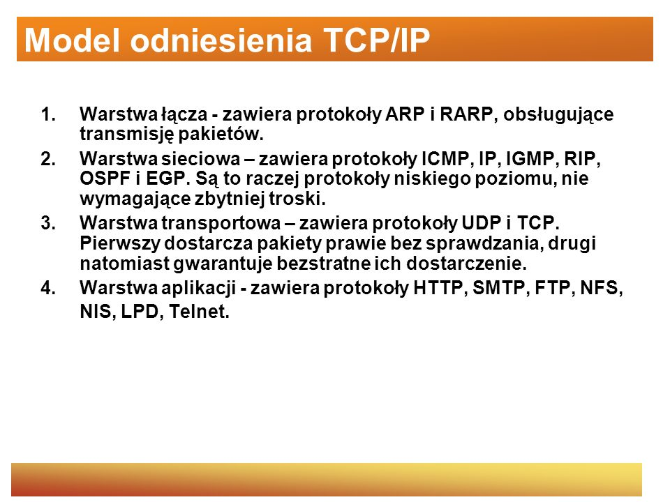 Model odniesienia TCP/IP
