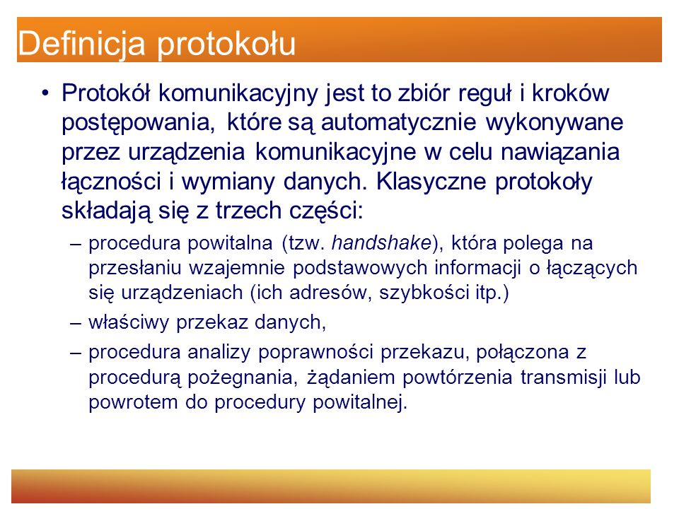 Definicja protokołu