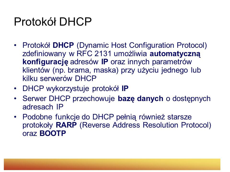 Protokół DHCP
