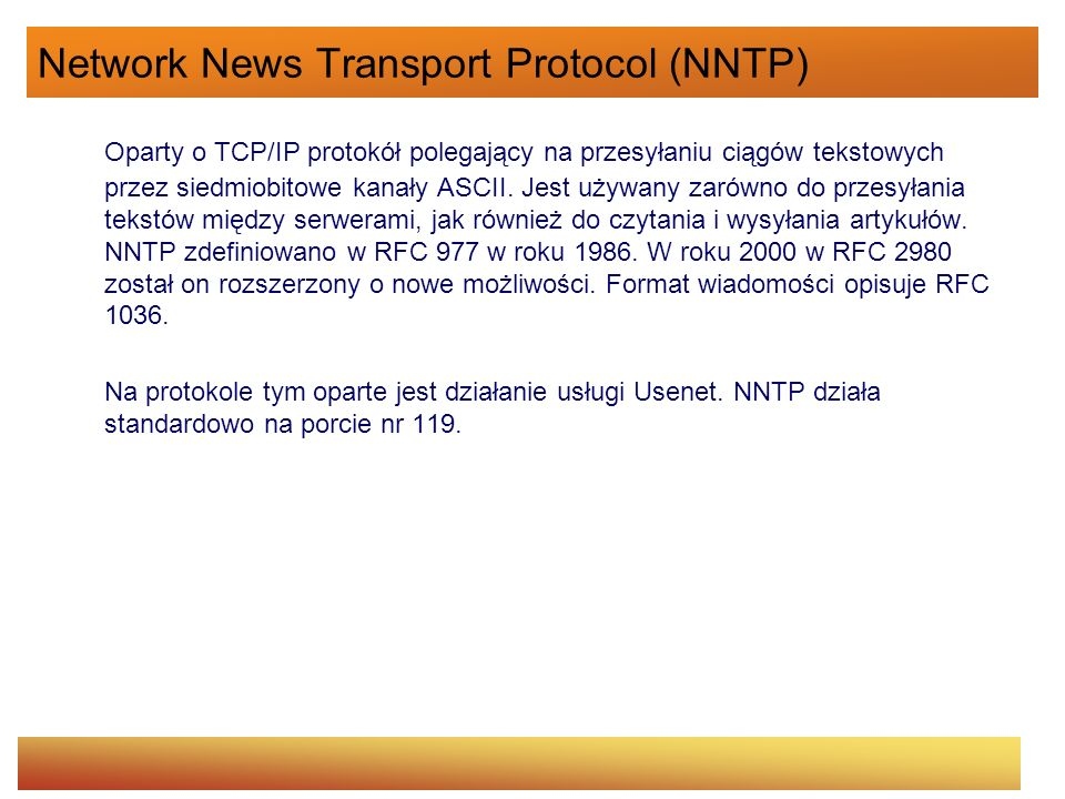 Network News Transport Protocol (NNTP)