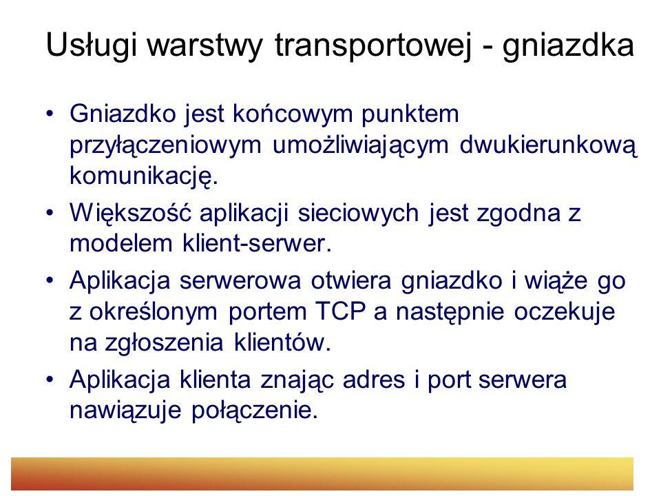 Usługi warstwy transportowej - gniazdka